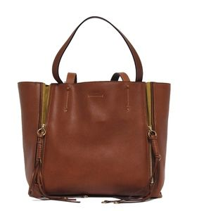 New Chloe Milo  Brown Calfskin Leather & Suede